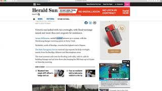 看太阳先驱报是如何报道这两天维州的暴雨和骤降的气温
