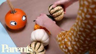 Homemade Halloween Decorations: Kooky Pumpkin Caterpillar   Parents