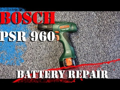 Bosch PSR 960 battery repair. How to change NI-CD elements in the device.