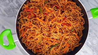 The EASIEST/TASTIEST Jollof Spaghetti Recipe – READY IN 20 MINUTES – ZEELICIOUS FOODS