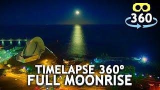 Timelapse Full Moonrise Tenerife 360º 4K #VirtualReality #HDR #360Video #VR #360
