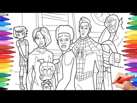 Spider-man Into the Spider-Verse Coloring Pages, How to Draw All Spiderverse Characters