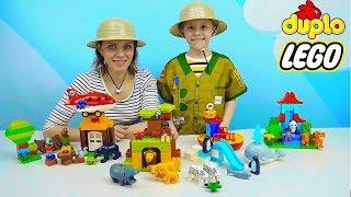 Лего Животные и путешествие в Африку Азию и Антарктиду для самых маленьких детей. Развивающее видео