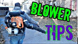 Blower techniques for leaf removal - Backpack blower tips - How to use a backpack blower