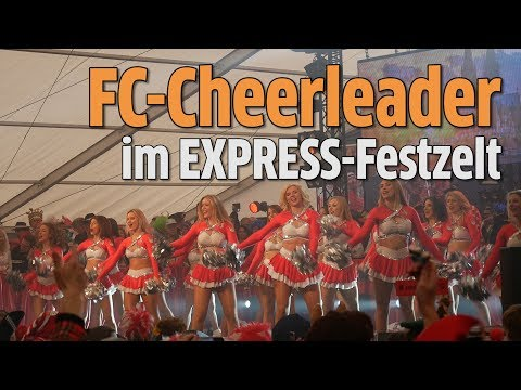 Karneval 2018: FC-Cheerleader im EXPRESS & KStA-Festzelt