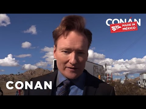 Conan gets bit by an attack dog by accident. He later proceeds to hug and pet him.
