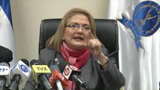 conferencia de prensa de licenciada Raquel Caballero de Guevara ,PDDH   06-10-16
