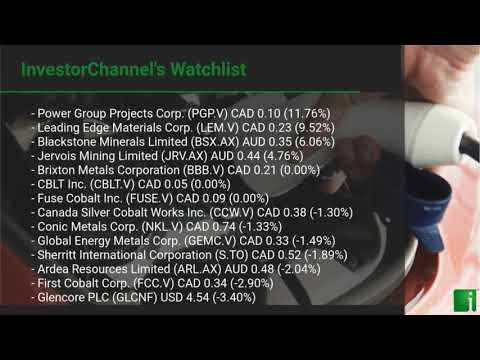 InvestorChannel's Cobalt Watchlist Update for Thursday, May, 13, 2021, 16:00 EST