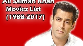 Salman Khan Movies list (1988-2017) - YouTube