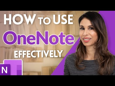 How to Use OneNote Effectively (Stay organized with little effort!)