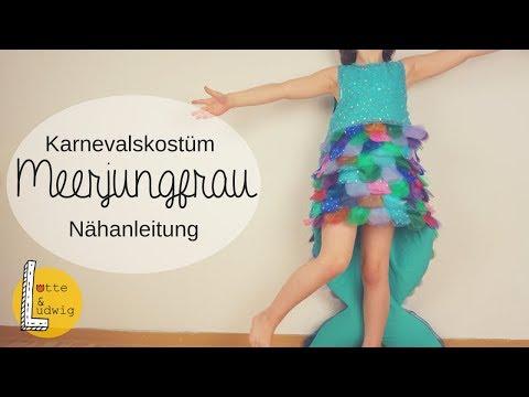 DIY Meerjungfrau Kostüm für Kinder nähen
