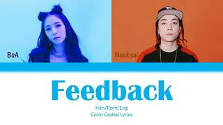 BoA (보아) – Feedback (feat. Nucksal) Color Coded Lyrics HanRomEng