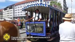 Pferdetrambahn auf dem Stadtgründungsfest 2018