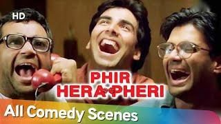 Phir Hera Pheri - All Comedy Scenes - Paresh Rawal - Rajpal Yadav - Akshay Kumar - Nonstop Comedy