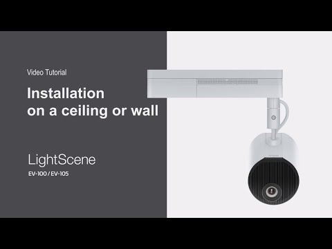 Installing LightScene EV-100 and EV-105 on a Ceiling or a Wall