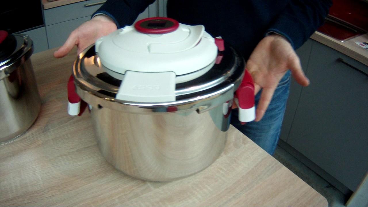 Casseroles à Pression Seb Clipso, ouverture et fermeture facile