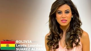 Leyda Suarez Aldana Contestant from Bolivia for Miss World 2016 Introduction
