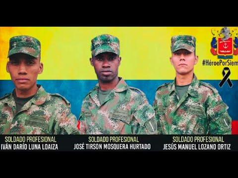 Fuerza de tarea Hercules despidio a soldados que murieron por mina en Tumaco