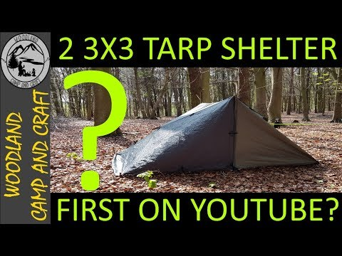 2 3X3 TARPS SET UP AS ENCLOSED SHELTER | NEVER SEEN BEFORE