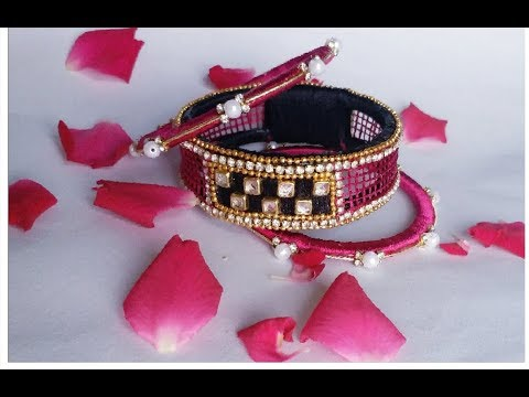 How to make silk thread bangles//latest checker model bangles at home DIY