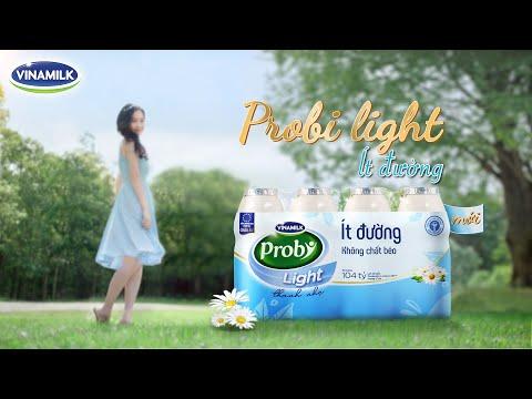 Sữa chua uống Probi Light ít đường, không béo – Dưỡng chất thanh nhẹ - Quảng cáo sữa Vinamilk 2020