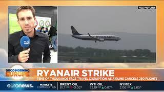 Ryanair Strike: Travel distruption as airline cancels 250 flights