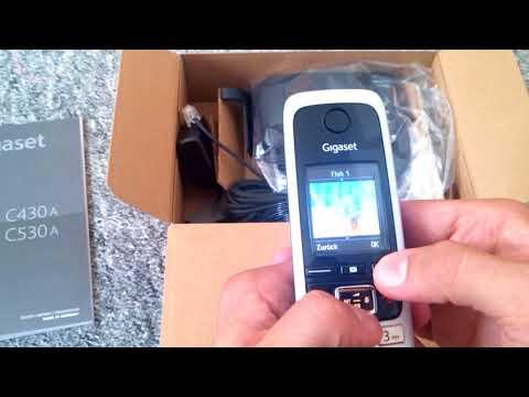 Gigaset C 430 A Haus Telefon mit Farbdisplay und 30 min Anrufbeantworter