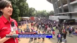 Suasana Stadion GBK Jelang Laga Persib Vs Arema