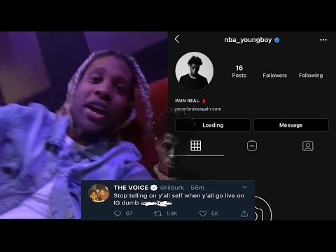 Lil Durk Sneak D!sses NBA YoungBoy After His IG Page Gets Deleted?