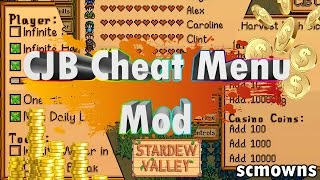StarDew Valley CJB Cheat Menu Mod Review Tutorial
