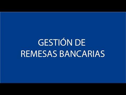 Gestión de remesas bancarias