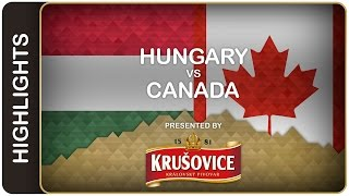 Canada showcases its balanced attack | Hungary-Canada HL | #IIHFWorlds 2016