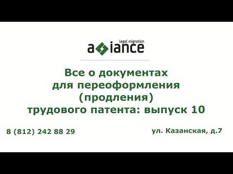 Все о документах для переоформления (продления) трудового патента: выпуск 10