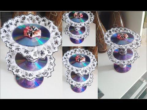 Porta doces feito de cd
