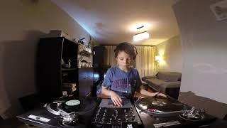 9 Year Old Filip House Vinyl DJ Set Video