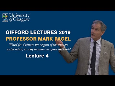 The End of Anthropology?   Gifford Lectures 2019   Prof Mark Pagel   Pt 4