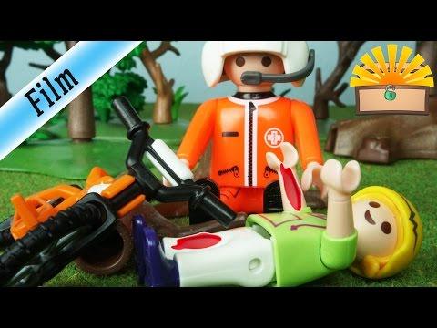 SCHLIMMER FAHRRAD UNFALL & NOTARZT EINSATZ - FAMILIE BERGMANN #86 - Playmobil Film deutsch
