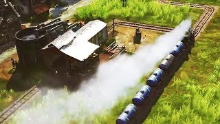Moron Strikes Oil and Creates Ugly Train Network in Anno 1800