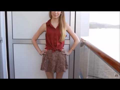 Cute Girl Modeling Short Skirts and Dresses