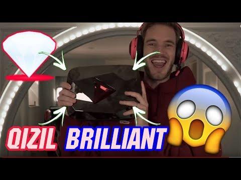 """Youtube """"PewDiePie""""ga  Qizil Brilliant berdi. 100 mln Obunachi yiqani uchun. YANGI YOUTUBE TUGMAsi"""
