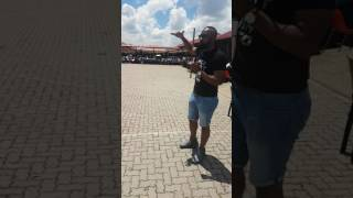 DJ Sbu Speaking To Learners At Leondale High School In Johannesburg South Africa.