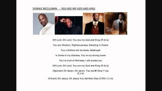 YOU ARE MY GOD AND KING - DONNIE MCCLURKIN.wmv