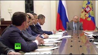 Путин проводит совещание с кабмином о совершенствовании контрольно-надзорной деятельности