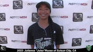 2022 Julianna Roxas Pitcher and Second Base Softball Skills Video