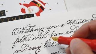 How to write a Christmas card |Write beautiful Christmas wishes| Clean Handwriting|Christmas 2020