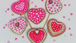 Valentines Heart Cookies | How To Decorate Cookies For Valentine's Day | Cookies Royal Icing