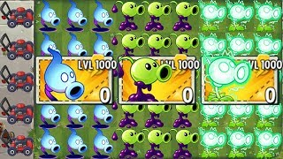 100% NEW Pea Plant LEVEL 1000 Power-Up! in Plants vs Zombies 2