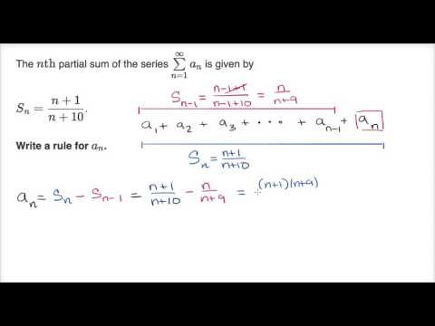 Partial Sums Formula For Nth Term From Partial Sum Video