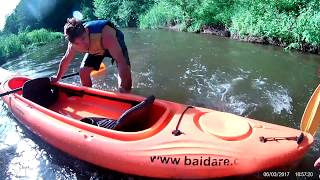 сплав на байдарка на реке анграпа  2017  В КАЛИНИНГРАДСКОЙ ОБ