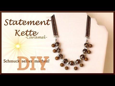 Schmuck selber machen: Statement Kette caramel [DIY]